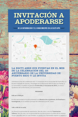 INVITACIÓN A APODERARSE