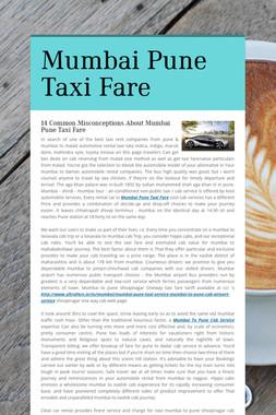 Mumbai Pune Taxi Fare