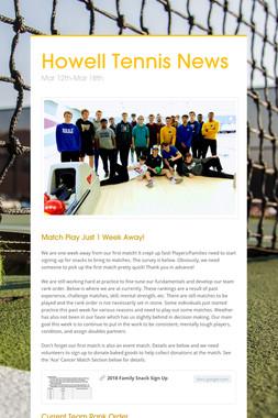 Howell Tennis News