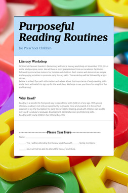 Purposeful Reading Routines