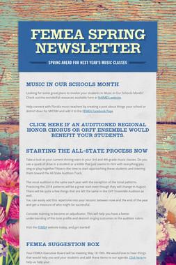 FEMEA Spring Newsletter