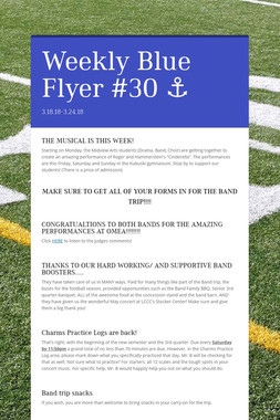 Weekly Blue Flyer #30   ⚓️