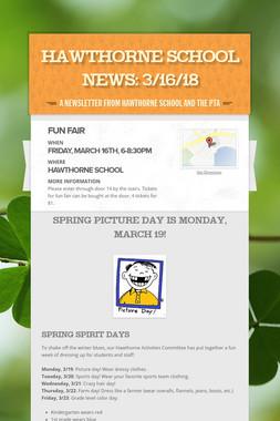 Hawthorne School News: 3/16/18