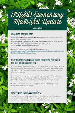 FHSD Elementary Math/Sci Update