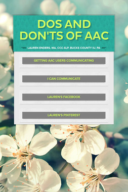 Dos and Don'ts of AAC
