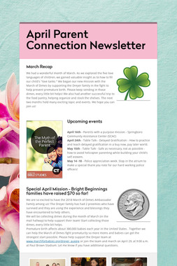 April Parent Connection Newsletter