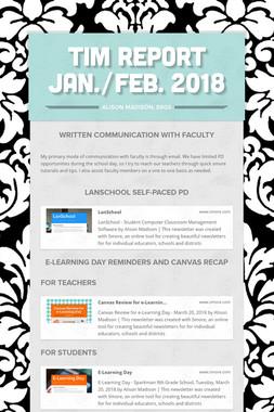 TIM Report Jan./Feb. 2018