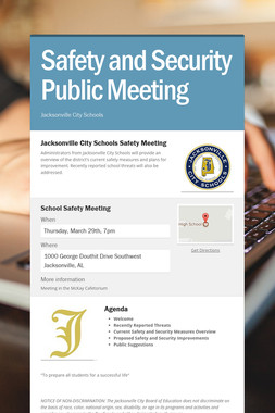 Safety and Security Public Meeting