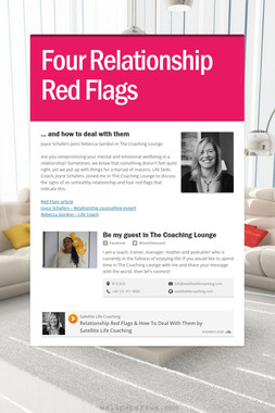 Four Relationship Red Flags