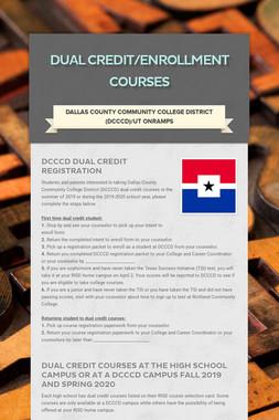 Dual Credit/Enrollment Courses