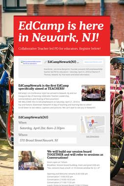 EdCamp is here in Newark, NJ!