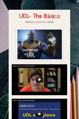 UDL- The Basics