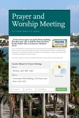 Prayer and Worship Meeting