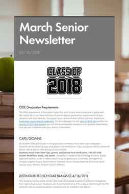 March Senior Newsletter