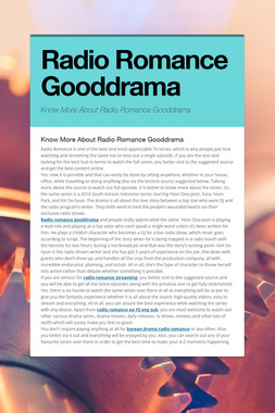 Radio Romance Gooddrama