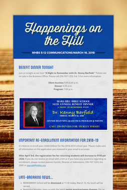 Happenings on the Hill