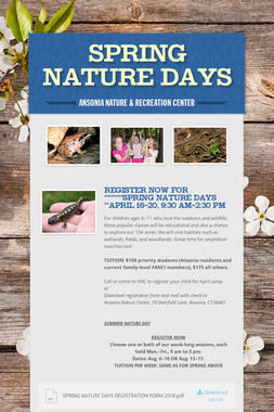 SPRING NATURE DAYS