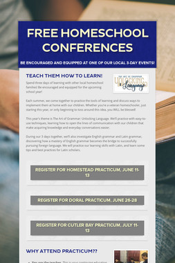 FREE Homeschool Conferences