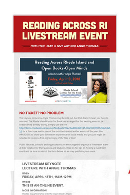 Reading Across RI Livestream Event