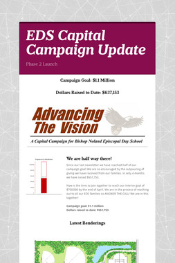 EDS Capital Campaign Update