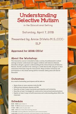 Understanding Selective Mutism