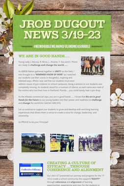 JROB DUGOUT NEWS 3/19-23