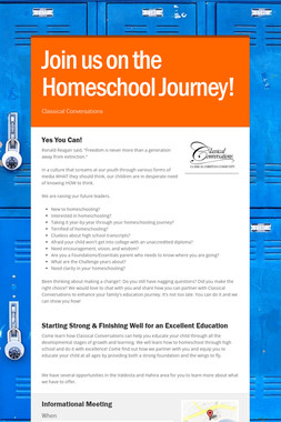 Join us on the Homeschool Journey!
