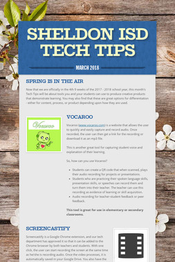 Sheldon ISD Tech Tips
