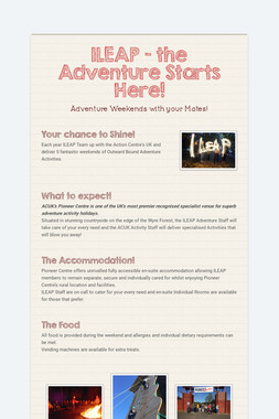 ILEAP -  the Adventure Starts Here!