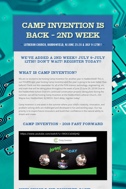 Camp Invention is BACK - 2nd week