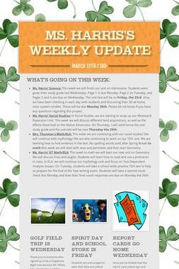 Ms. Harris's Weekly Update