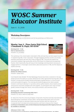 WOSC Summer Educator Institute