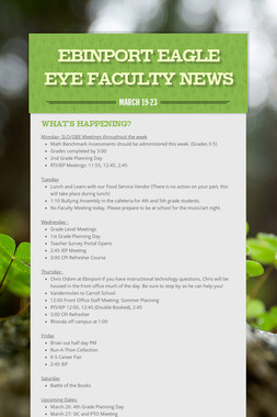 Ebinport Eagle Eye Faculty News