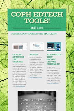 COPH EDTECH TOOLS!