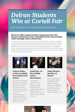 Delran Students Win at Coriell Fair