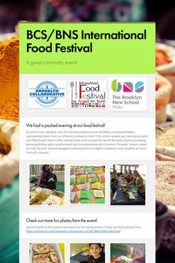 BCS/BNS International Food Festival