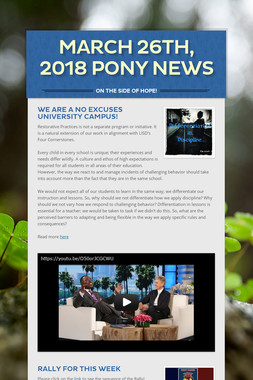 March 26th, 2018 Pony News