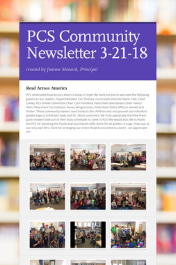 PCS Community Newsletter 3-21-18