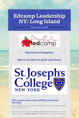 Edcamp Leadership NY: Long Island