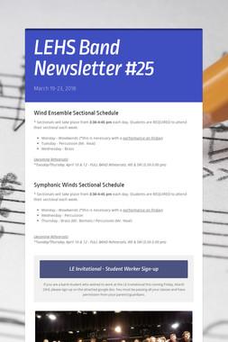 LEHS Band Newsletter #25