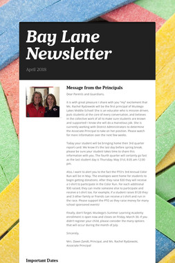 Bay Lane Newsletter