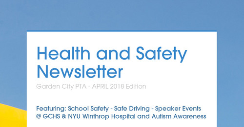 Health and Safety Newsletter | Smore Newsletters for Education