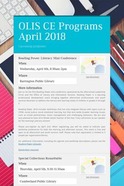 OLIS CE Programs April 2018