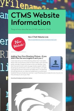 CTMS Website  Information