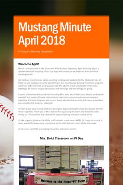 Mustang Minute April 2018