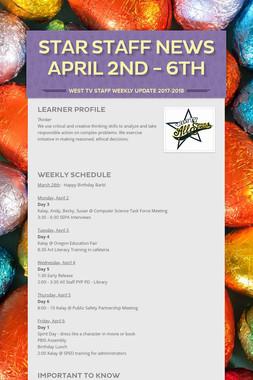 Star Staff News   April 2nd - 6th