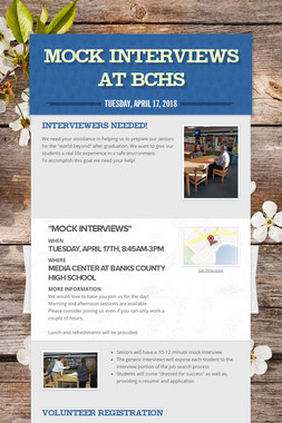 Mock Interviews at BCHS
