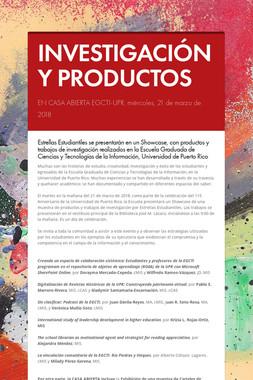 INVESTIGACIÓN Y PRODUCTOS