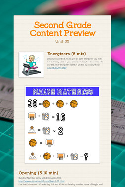 Second Grade Content Preview
