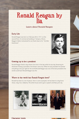 Ronald Reagan by Ila